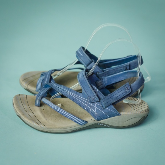 637b34192dfe9 Merrell 9 Blue Freesia Twilight Comfort Sandals